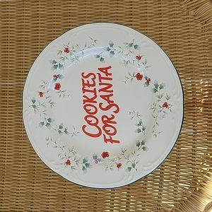 Pfaltzgraff cookies for Santa plate